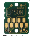 Epson ink monitor chip on all currently shipping Epson inkjet printers.