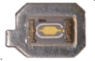 Close-up of the internal ink sensor chip on the T068/T069/T088 cartridges.