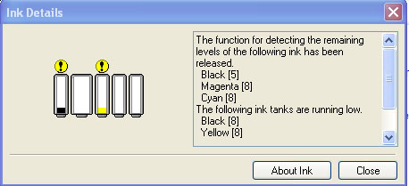 That is all that chip does.  Tell the printer the ink level.  The only reason to code the chip in 128-bit encryption was to foil refillers.