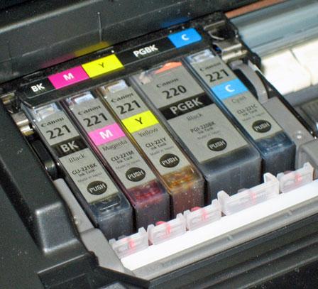 iP3600 Cartridges Installed