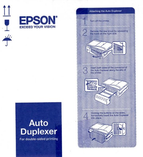 Epson Artisan 700 and 800 Double Sided Printing, Print On Both Sides of the Paper for only $40.00