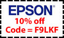 Epson store 10 percent off coupon code valid until 12-31-09