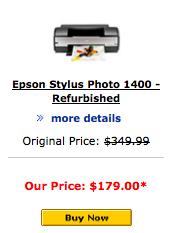 Epson Stylus Photo 1400 Inket Printer $179 At The Epson Store