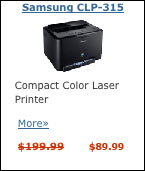 Samsung color laser printer.