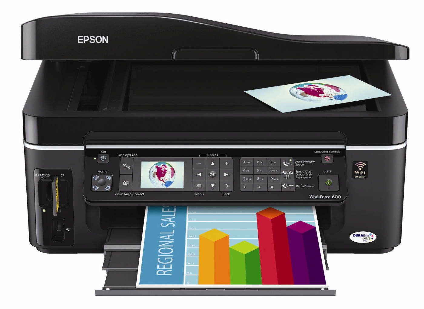 Epson Workforce 600 All-In-One Inkjet Printer: