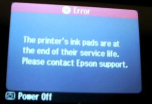Waste ink error on the Epson Artisan 700, 710, 800, 810 series.