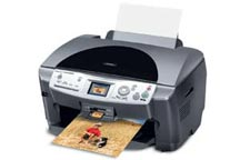 Epson Stylus RX620 Multi-Function All In One Inkjet Printer Specifications and Ink Recomendations and Reviews.