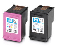 HP 901 Inkjet Printer Cartridges - Color And Black
