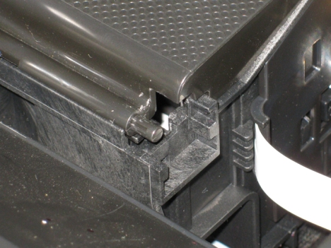 Epson Stylus Photo RX595 cartridge cover removal.