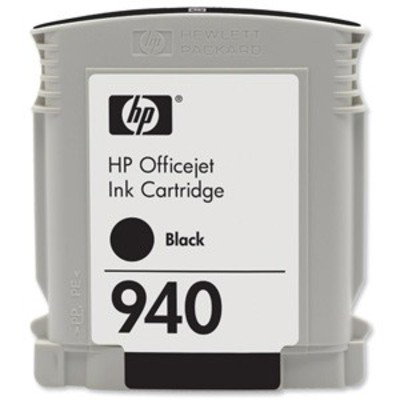 Hewlett Packard HP 940 Series Black Ink Cartridge Contains 29ml of ink - the HP 940XL cartridge has a hefty 49ml of ink