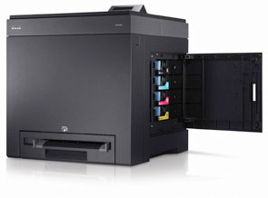 Dell color laser printer 2130cn, and 2135cn toner access door.