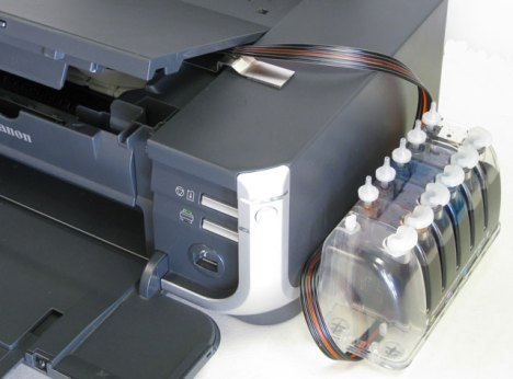 CIS for Canon Inkjet Printers - The finished product, iP4300 pictured.