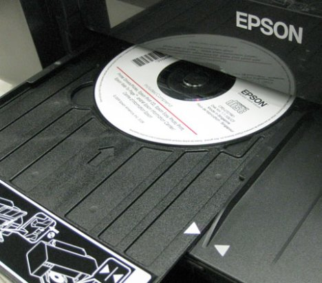 Epson Artisan 50 refurbished refurb CD-DVD tray insterted and ready for printing