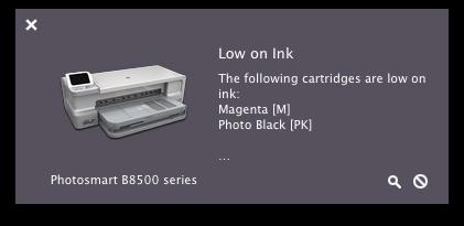 HP 564 564XL XL Magenta Ink Cartridge Empty Warning With Hewlett Packard B8550 Inkjet Printer