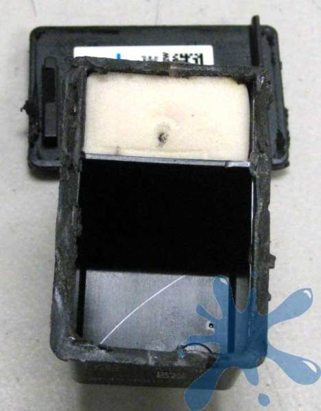 The HP 92 c9362w black inkjet printer cartridge does not much actual ink.  Looks like 60% of the cartridge is just air.