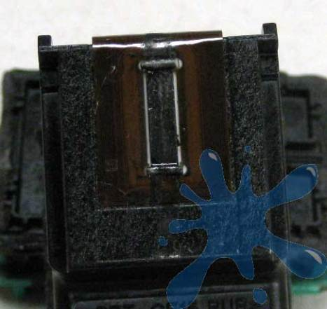 Print head for the HP 92 inkjet cartridge - on the bottom of the cartridge.