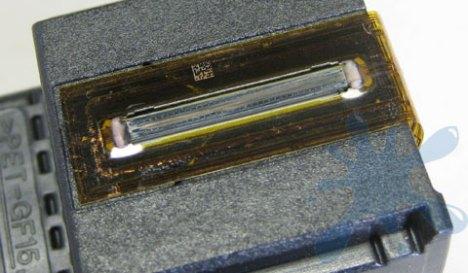 HP 60 black - print head close-up