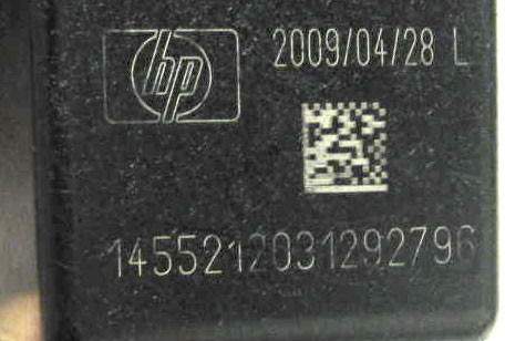 hp 74 black ink cartridge expiration date, serial number, and upc code