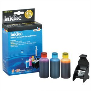 HP 75xl tri-color, color ink cartridge refill.