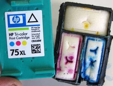 HP Hewlett Packard - 75xl tri-color (color) ink cartridge.