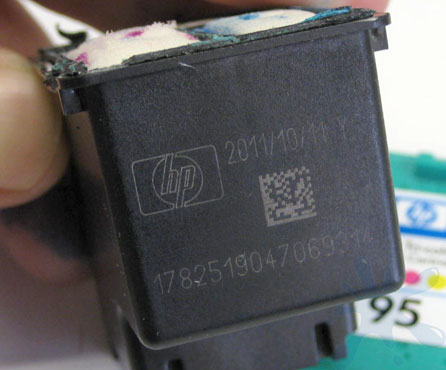 HP 95 color inkjet print cartridge expiration date