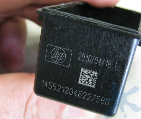HP cartridge has an expiration date - after this date the printer will no longer accept the cartridge.