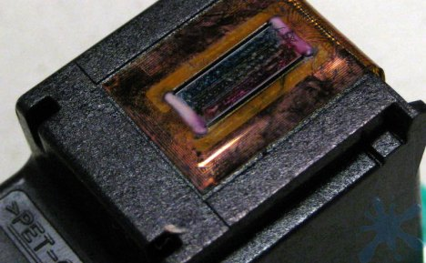 Hewlett Packard (HP) 97 ink cartridge print head.