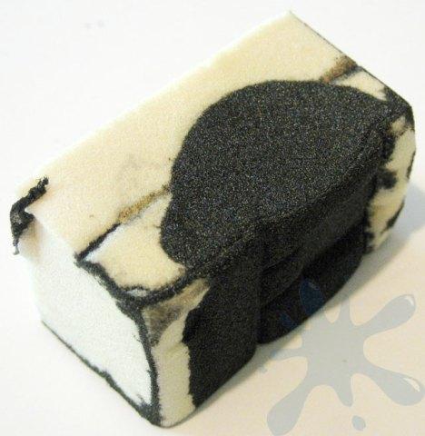 HP 98 black ink cartridge - sponge refill removed.