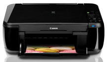Canon Pixma MP495 inkjet printer - used dual cartridges, not individual ink cartridges.