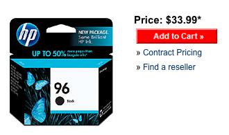 hp 96 retail price