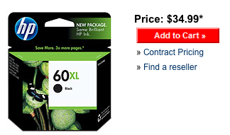 HP 60XL black retail price.