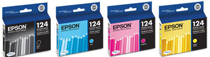 T124120, T124220, T124320, T124420 ink cartridges for the Epson Stylus NX125, NX127, NX420 wireless
